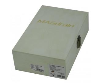 Трап для душа (сливной) MAGdrain WC02Q50-RW (100x100x12 мм, розовое золото + фьюзинг стекло, латунь)